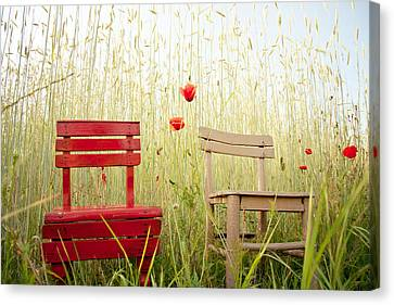 Chair Canvas Print - Together Then by Violet Gray