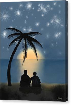 Together Under The Stars Canvas Print