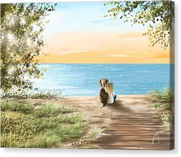 Together Canvas Print by Veronica Minozzi