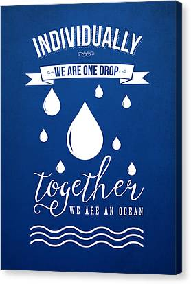 Together We Are An Ocean Canvas Print by Aged Pixel