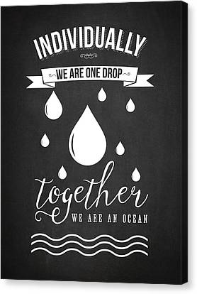 Together We Are An Ocean - Dark Canvas Print by Aged Pixel
