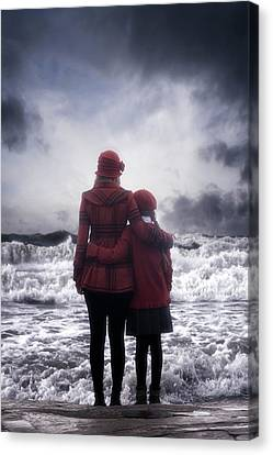 Two Waves Canvas Print - Together We Are Strong by Joana Kruse