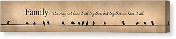 Together We Have It All Canvas Print by Lori Deiter