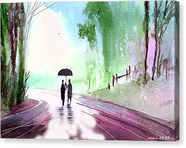 Togetherness Canvas Print by Anil Nene