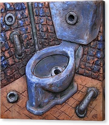 Toilet Stories #9 Canvas Print by Carlos Enrique Prado