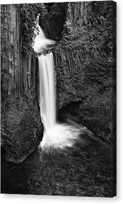 Solitude Canvas Print - Toketee Falls by Andrew Soundarajan