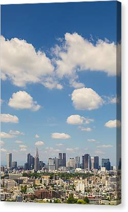Tokyo Skyline Canvas Print - Tokyo 31 by Tom Uhlenberg