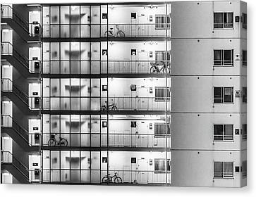 Tokyo - Five Bikes Canvas Print by Michael Jurek