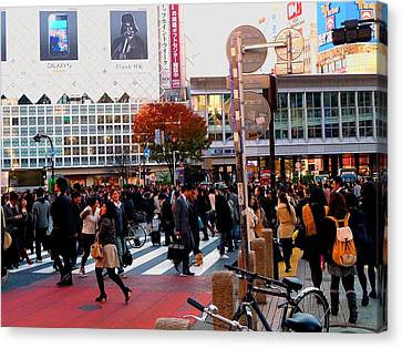 Canvas Print featuring the photograph Tokyo by Julia Ivanovna Willhite