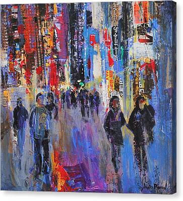 Tokyo Night Canvas Print by Sylvia Paul