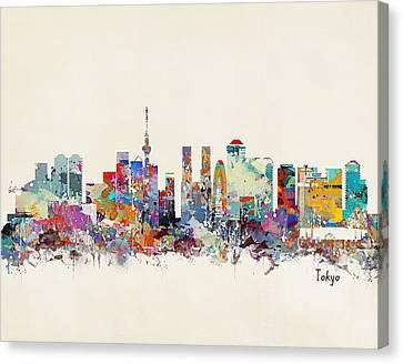 Tokyo Skyline Canvas Print - Tokyo Skyine by Bleu Bri