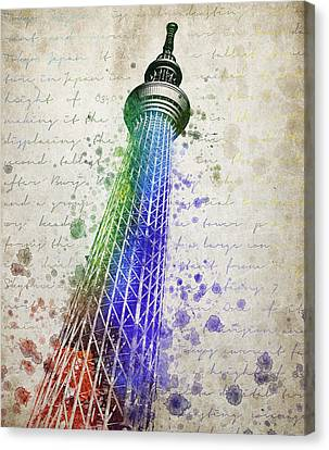Tokyo Skytree Canvas Print by Aged Pixel