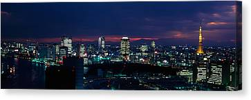 Tokyo Tower Tokyo Japan Canvas Print by Panoramic Images