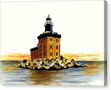 Toledo Harbor Lighthouse Canvas Print by Michael Vigliotti