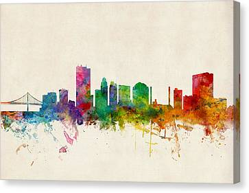 Toledo Ohio Skyline Canvas Print by Michael Tompsett