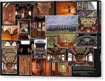 Toledo Peoria Western Pullman Rr Car Collage Canvas Print