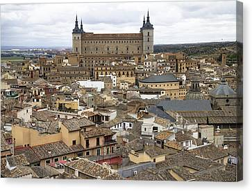 Canvas Print featuring the photograph Toledo Spain Cityscape by Nathan Rupert