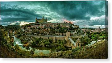 Toledo - The City Of The Three Cultures Canvas Print by Pedro Jarque