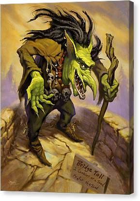 Toll Troll Canvas Print by Jeff Haynie