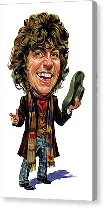 Tom Baker As The Doctor Canvas Print by Art