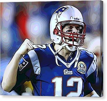 Hall Of Fame Canvas Print - Tom Brady by Dan Sproul