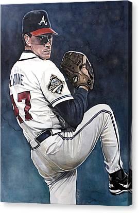 Tom Glavine - Atlanta Braves World Series Canvas Print by Michael  Pattison