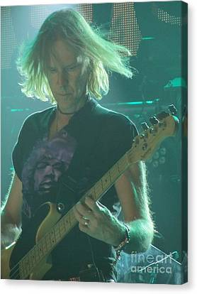 Canvas Print featuring the photograph Tom Hamilton On Guitar by Jeepee Aero