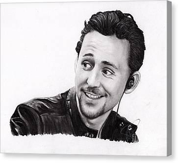 Avengers Canvas Print - Tom Hiddleston 2 by Rosalinda Markle