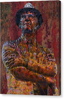 Tom Landry - The Last Cowboy Canvas Print by Jack Zulli