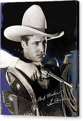 John Keaton Canvas Print - Tom Mix Portrait Melbourne Spurr Hollywood California C.1925-2013 by David Lee Guss
