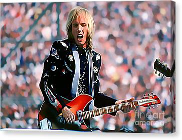 Tom Petty At Live Aid In Philadelphia Canvas Print by Wernher Krutein