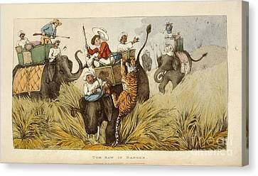The Tiger Hunt Canvas Print - Tom Raw In Danger by British Library