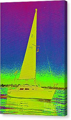 Tom Ray's Sailboat Canvas Print by First Star Art