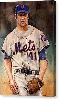 Tom Seaver Canvas Print by Michael  Pattison