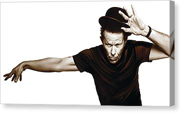 Tom Waits Artwork  4 Canvas Print by Sheraz A