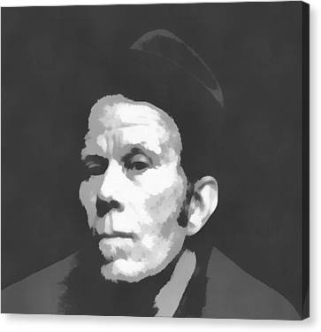 Avant Garde Jazz Canvas Print - Tom Waits Charcoal Poster by Dan Sproul