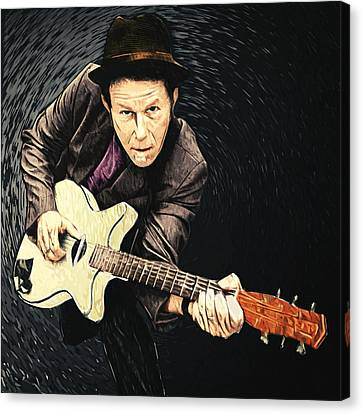 Tom Waits Canvas Print by Taylan Apukovska