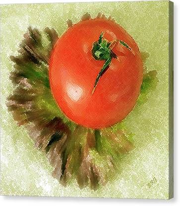 Tomato And Lettuce Canvas Print by Ben and Raisa Gertsberg