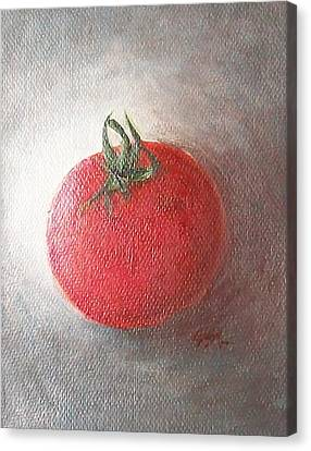 Canvas Print featuring the painting Tomato by Jane  See