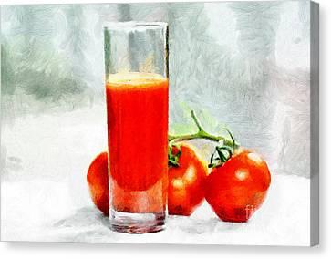 Tomato Juice Painting Canvas Print