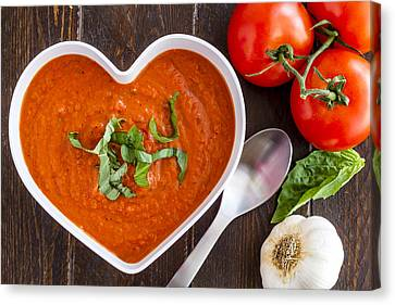 Autumn Soup Canvas Print - Tomato Soup Love by Teri Virbickis