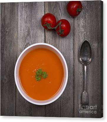Tomato Soup Vintage Canvas Print by Jane Rix