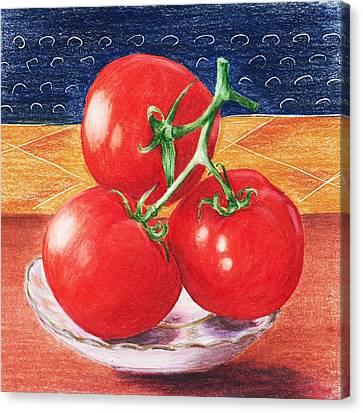Tomatoes Canvas Print by Anastasiya Malakhova