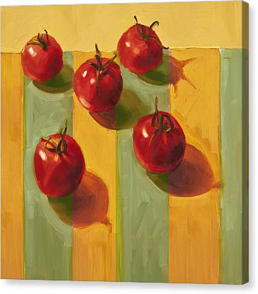 Tomatoes Canvas Print by Cathy Locke