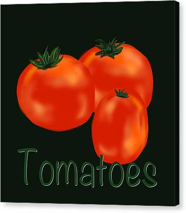 Tomatoes Canvas Print by Christine Fournier