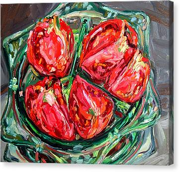 Dinner Party Invitation Canvas Print - Tomatoes by Melissa Sarat