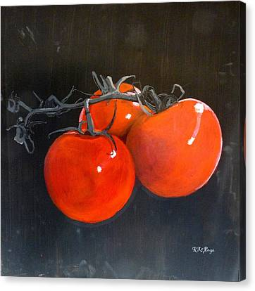 Canvas Print featuring the painting Tomatoes by Richard Le Page