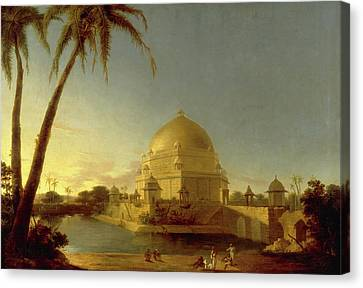 Water Jars Canvas Print - Tomb Of Sher Shah, Sasaram, Bihar Signed In Black Paint by Litz Collection