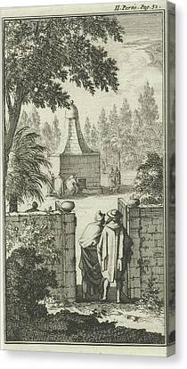 St George Canvas Print - Tomb Of St. George, The Gatekeeper To Damascus by Jan Luyken And Charles Angot