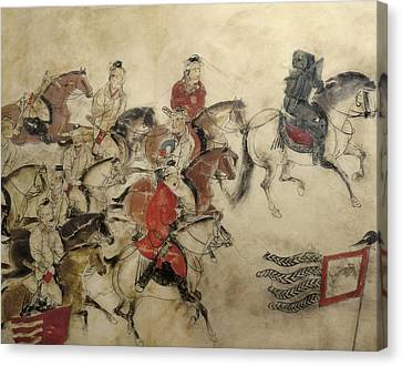 Chivalrous Canvas Print - Tomb Of The Crown Prince Zhanghuai by Everett